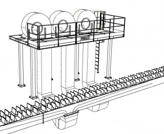 Centralized under table air cooling systems